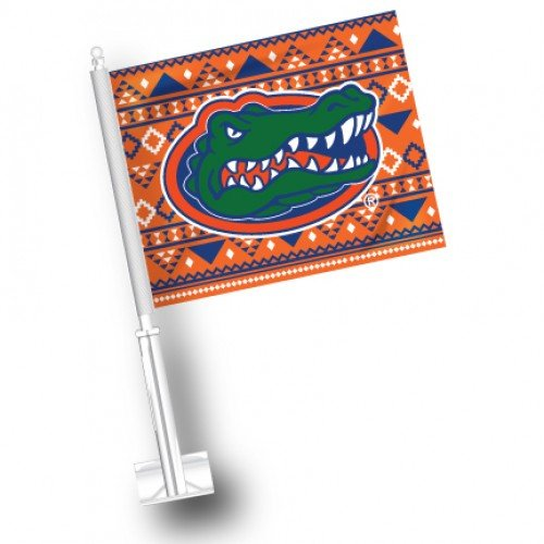 NCAA Florida Gators Car Flag Set of 2 Aztec