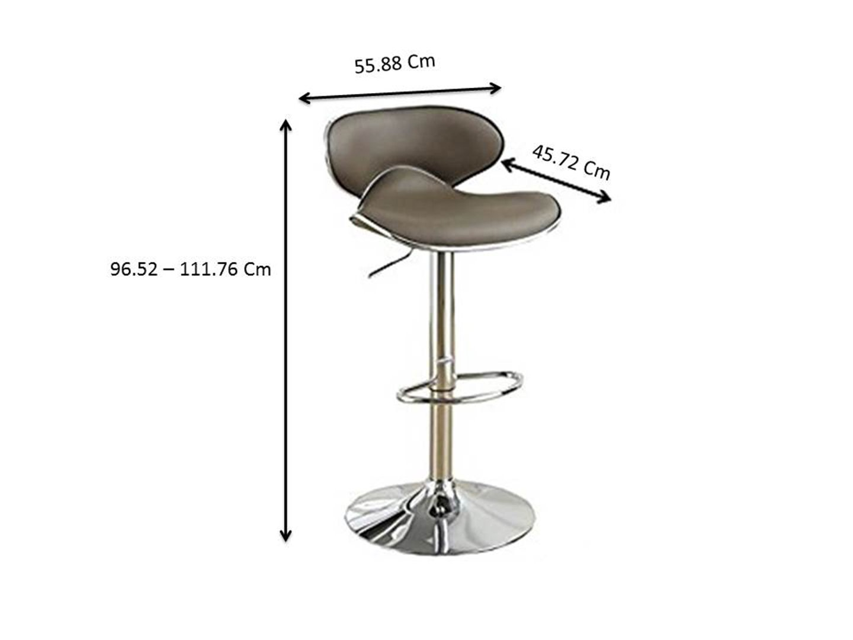 Amazon.com: Poundex PDEX-F1563 Alexandra 2 Espresso Faux Leather Bar Stools, Multi: Kitchen & Dining