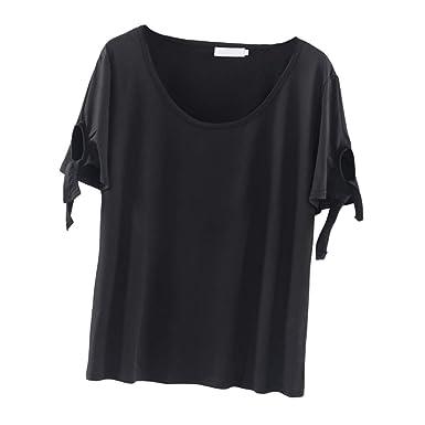 F Fityle Camiseta De Manga Corta Para Mujeres Con Talla Grande ...
