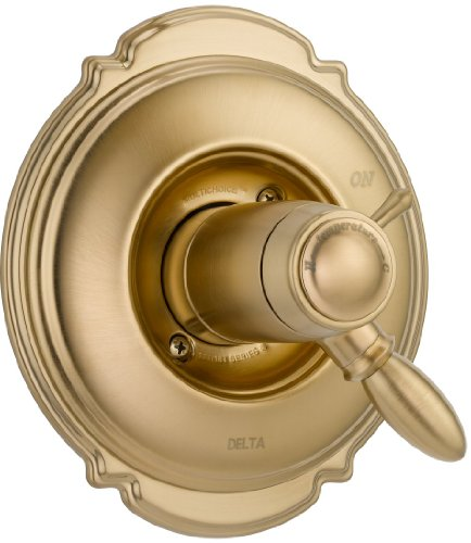 Victorian Champagne Bronze Monitor (Delta Faucet T17T055-CZ Victorian TempAssure 17T Series Valve Trim Only, Champagne Bronze)