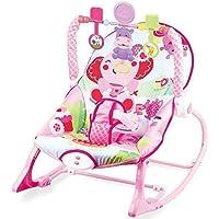 Babywippe mit Musik und Vibrationen Dominiti 39391, verstellbare Babyschaukel, Spielzeug Schaukelwippe Schaukelsitz Babywiege Erstausstattung Virbation