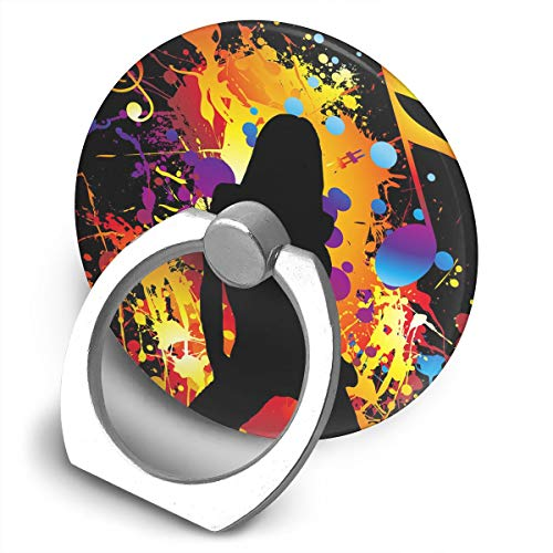 Cooby Roman Circular Cell Phone Stand Music Note Girl Dance Finger Ring Stand Holder - Finger Grip Kickstand 360¡ã Rotation for iPhone and More Smartphones