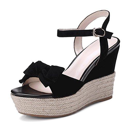 1f6f45dd75c69 Barato SANDALIAS cuña de plataforma de verano Plataforma impermeable dulce  Zapatos abiertos de tacón alto Zapatos
