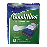 GoodNites Disposable Bed Mats for Bedwetting, 36 Count
