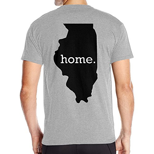 Camo Tee Outline - Fantastic Illinois Home Outline Short Sleeve Tee Mens Back Graphic