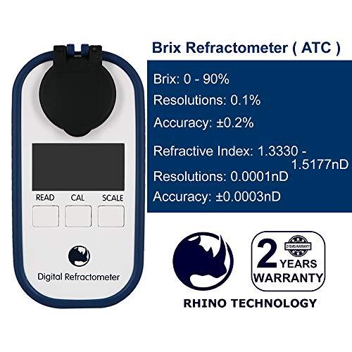 Rhino 0-90 Digital Brix Maple Syrup Jam Sauces Juice Refractometer ATC ()