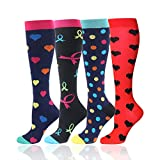 Compression Socks for Men Women - Best for Running, Sport, Nurse, Travel, Edema