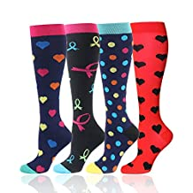 Graduated Compression Socks for Women and Men -Athletic Socks for Crossfit