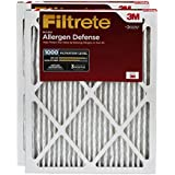 Filtrete MPR 1000 14 x 25 x 1 Micro Allergen Defense AC Furnace Air Filter, Captures Small Particles, Uncompromised Airflow, 2-Pack