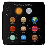 18 Inch 6-Sided Cube Ottoman Solar System Sun Moon and Planets