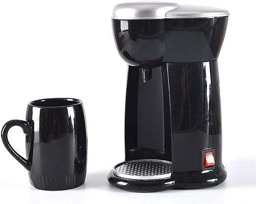 X-L Compacto de la máquina de café, 140 ml Cafetera con función Anti Goteo, 300w, Filtro de café con 3 Minuto Tiempo ...