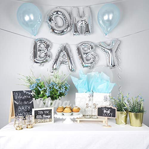 Oh Baby Boy Letters - OH Baby Balloon Silver 16