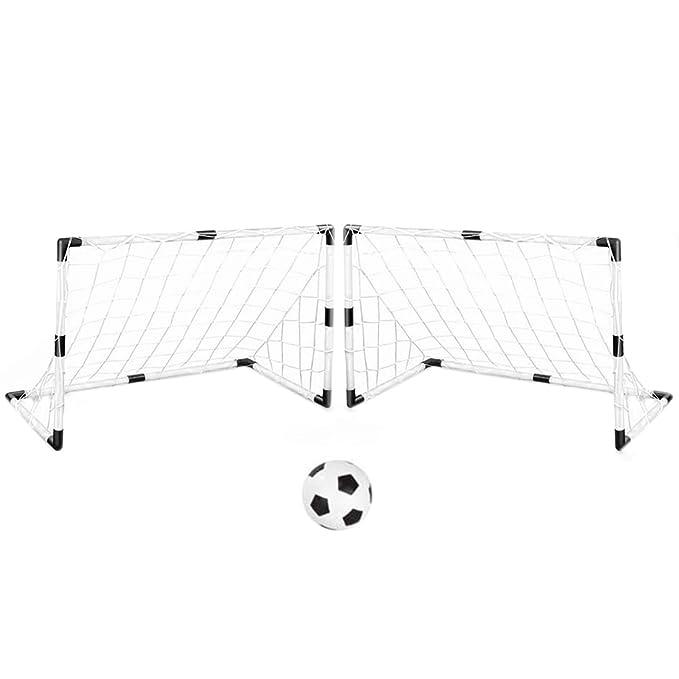 2 opinioni per iTECHOR Set 2 Porta da Calcio Piccolo Allenamento Rete + Calcetto Pallone giochi