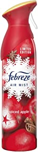 Febreze Air Mist Air Freshener Spray, Winter Collection Limited Edition, Spiced Apple Scent, 10.1 oz. (Pack of 3)