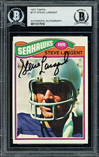 (Steve Largent Autographed Signed Memorabilia 1977 Topps Rookie Card #177 Seattle Seahawks - Beckett Authentic)