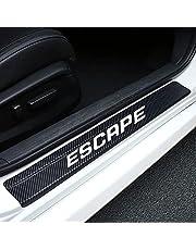 Welcome pedal naklejki samochodowe tuningowanie kompatybilne z FORD ESCAPE akcesoria auto próg drzwi naklejka dekoracyjna z włókna węglowego odporna na zarysowania próg samochodu naklejka przednia i tylna panele odporne na zarysowania naklejka