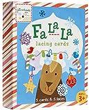 C.R. Gibson Jill McDonald Fa La La Christmas Lacing Cards