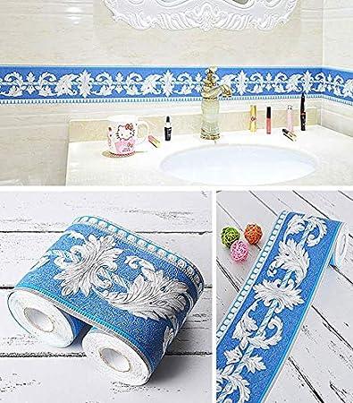Bordure murale /à motif floral pour d/écoration de la maison cuisine 10,2 cm par 45,7 m salle de bain or