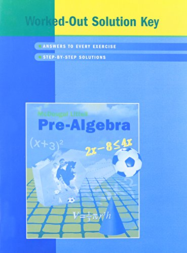 Pre-Algebra (Worked-Out Solution Key)