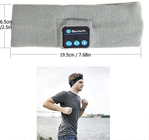 Jeystar Wireless Headband Sweatband with Headphone Headset Speaker Mic Handsfree Music Call for Outdoor Indoor Sports Gym Exercise Running Yoga Dancing Camping Gift Men Women Boys Girls
