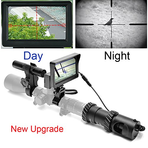 RHYTHMARTS [Upgrade] Digital Night Vision for Riflescope with CCD and Flashlight Outdoor Hunting ()