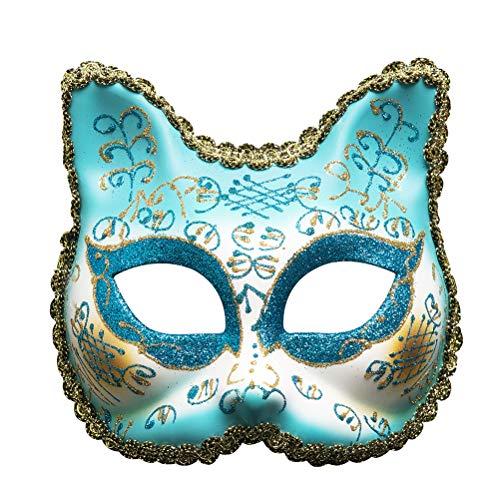Pizzo Compleanno Maschera Palle Scintillio In Mask Partito Ragazze Rosa Cat Zhhyltt Mascherina Della Di Face Maschera Di Venezia Maschera In Halloween Festa gv4Uqx8w