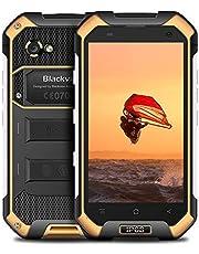 """Rugged Smartphone, Blackview BV6000S 16GB ROM Dual SIM Cellulare IP68, 2MP+8MP,4.7"""" HD Telefono da Lavoro, 4500mAh Batteria, Sensore Pressione Atmosferica,GPS/GLONASS/FM/NFC/Fingerprint - Giallo"""
