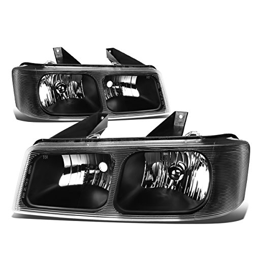 Pair of Black Housing Headlight for Chevy Express GMC Savana 1500 2500 3500 03-15