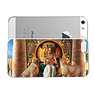 iPhone 5/5s Case - Digital Art - Cleopatra On Her Throne,Janmaons Case for QicxO8BIhJT iPhone