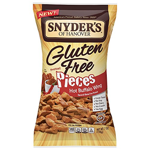 Pretzels Snyders Sourdough (Snyder's of Hanover Gluten Free Pretzel Pieces, Hot Buffalo Wing, 7 Ounce)