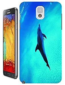 beautifil sea lovely dolphin cell phone cases design for Samsung Galaxy N3