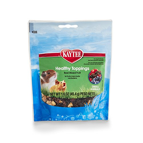 Kaytee Fiesta Healthy Toppings Mixed Fruit Treat for Small Animals, 1.6-oz bag