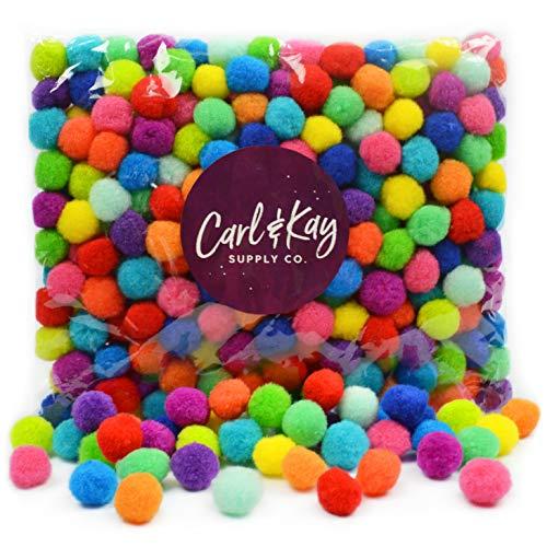 Bulk Craft Pompoms [350 Pcs] 1 Inch Pom Poms in Large Assorted Bag | 40% More Than Our Standard Bag! | Pompoms for Crafts | Assorted Pom Pom Balls | Pom Pom for Crafts | Colorful Pompom Balls