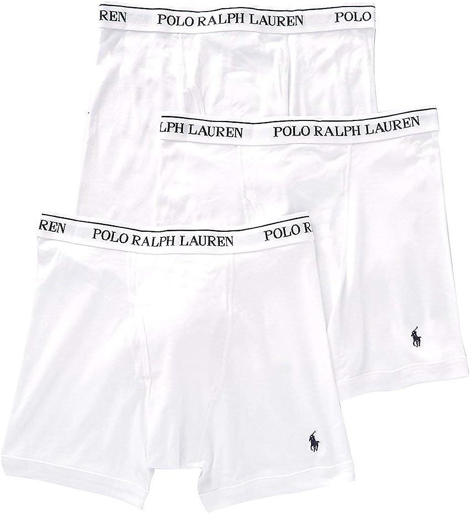 Polo Ralph Lauren Men/'s Classic Cotton Boxer Briefs 3-Pk all sizes White