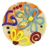 GlassOfVenice Murano Glass Spring Flowers Round Pendant