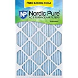 Nordic Pure 10x20x1 Pure Baking Soda Odor Deodorizing AC Furnace Air Filters, 3 Pack