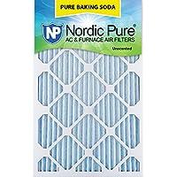 Nordic Pure 16x20x1PBS-3 Pure Baking Soda Air Filters (Quantity 3), 16 x 20 x 1