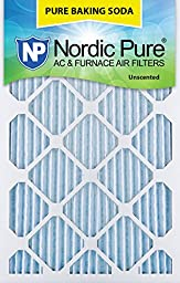 Nordic Pure 18x20x1PBS-3 Pure Baking Soda Air Filters (Quantity 3), 18\