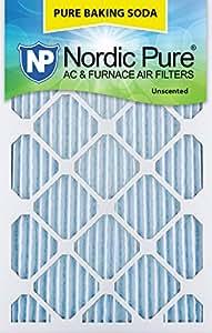"Nordic Pure 16x24x1PBS-3 Pure Baking Soda Air Filters (Quantity 3), 16"" x 24"" x 1"""