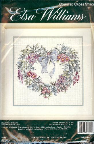 Elsa Williams Counted Cross Stitch HEARTFELT WREATH - Michael A. LaClair (Elsa Williams Cross Stitch)