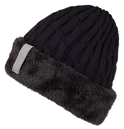 Spikerking Mens Knitting Caps Winter Hats Beanie Skull Hat With Thick Lining
