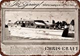 """9"""" x 12"""" Metal Sign - 1940 Chris-Craft Yachts - Vintage Look Reproduction"""