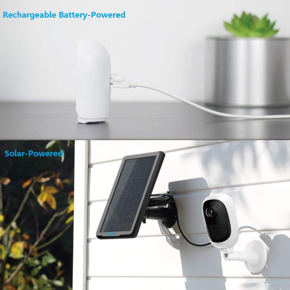 Reolink Argus Pro (Pack of 2) Rechargeable Battery Solar-Powered Outdoor Wireless Security Camera, 1080p HD Night Vision, 2-Way Audio, Alarm Alert and PIR Motion Sensor, Built-in SD Socket and Cloud by REOLINK (Image #2)