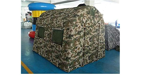 Amazon Com Air Tight Waterproof Inflatable Hunting Duck Blind Ice Fishing Shanty Tent W Pump Sports Outdoors