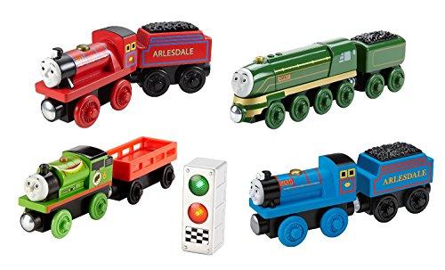 Mike, Streamlined Emily, Racing Percy, Bert 4pk!! - Thomas Wooden Railway Tank Train (Gordon Express Train)