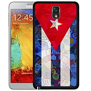 Cuba Flag with mural art Hard Snap On Cell Phone Case Cover (Samsung Galaxy Note III 3 N9000) Kimberly Kurzendoerfer