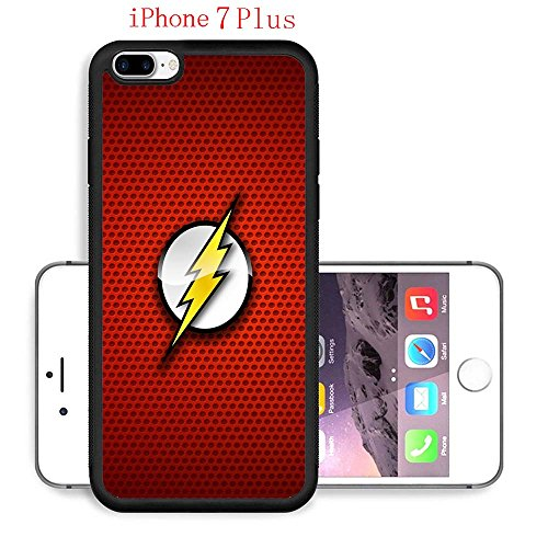 iPhone 7 Plus Case, The TV Series The Flash 70 Drop Protection Never Fade Anti Slip Scratchproof Black Soft Rubber (Best Female Superhero)