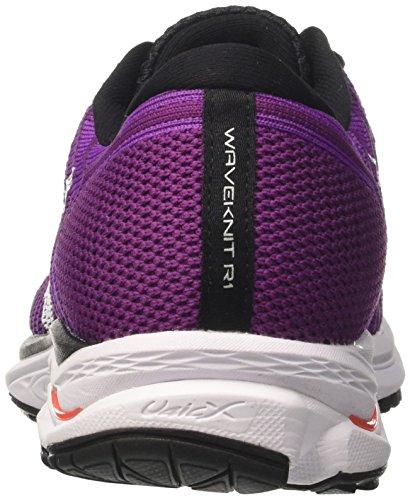 Viola Waveknit WOS Mizuno R1 Donna Scarpe Running Hyacinthvioletwhitefierycoral da 1w770