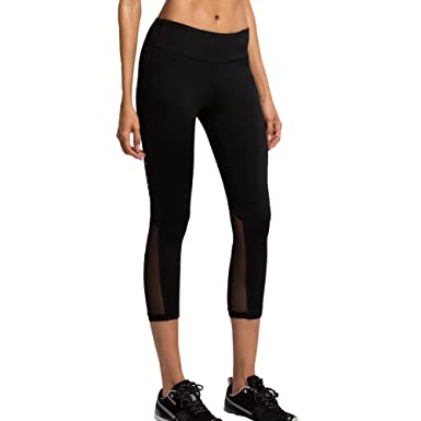 FWN Yoga Capris Leggings for Women Active Leggings Workout Mesh ...