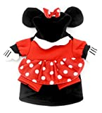 SMALLLEE_LUCKY_STORE Small Dog Clothes for Girls Boys Cat Dog Mini Mouse Costume Hooded Dots Dress Autumn, Small, Red